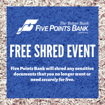 shredded paper - Shred day event